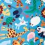 Ткань велюр с рисунком зоопарк