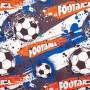 Ткань велюр с рисунком футбол